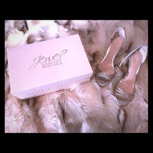 American Glamour Jewel Badgley Mischka Wedge Sz9.5